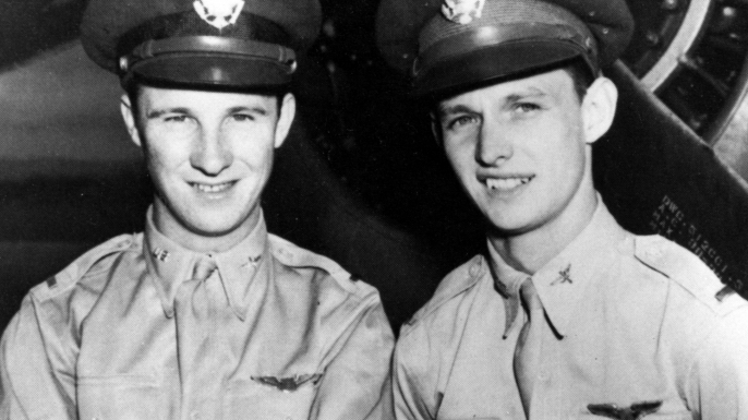 Kenneth Taylor and George Welch. (Credit: U.S. Air Force)