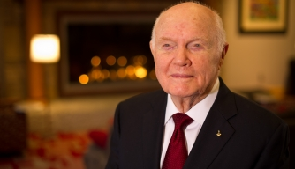 Senator John Glenn during the 50th anniversary commemoration of the Friendship 7 mission. (Credit: NASA/Bill Ingalls)