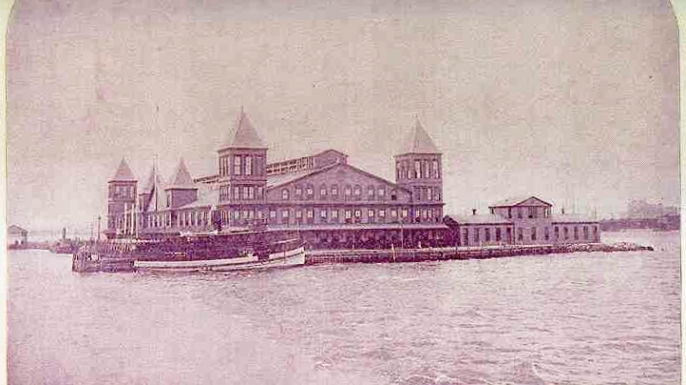 Ellis Island's first building.