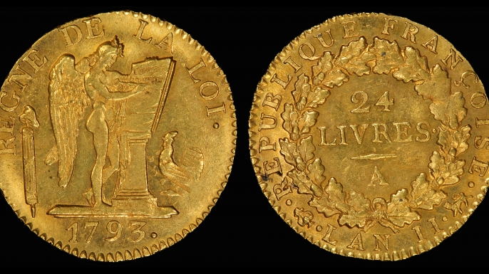 French livre coin from 1793. (Credit: Public Domain)