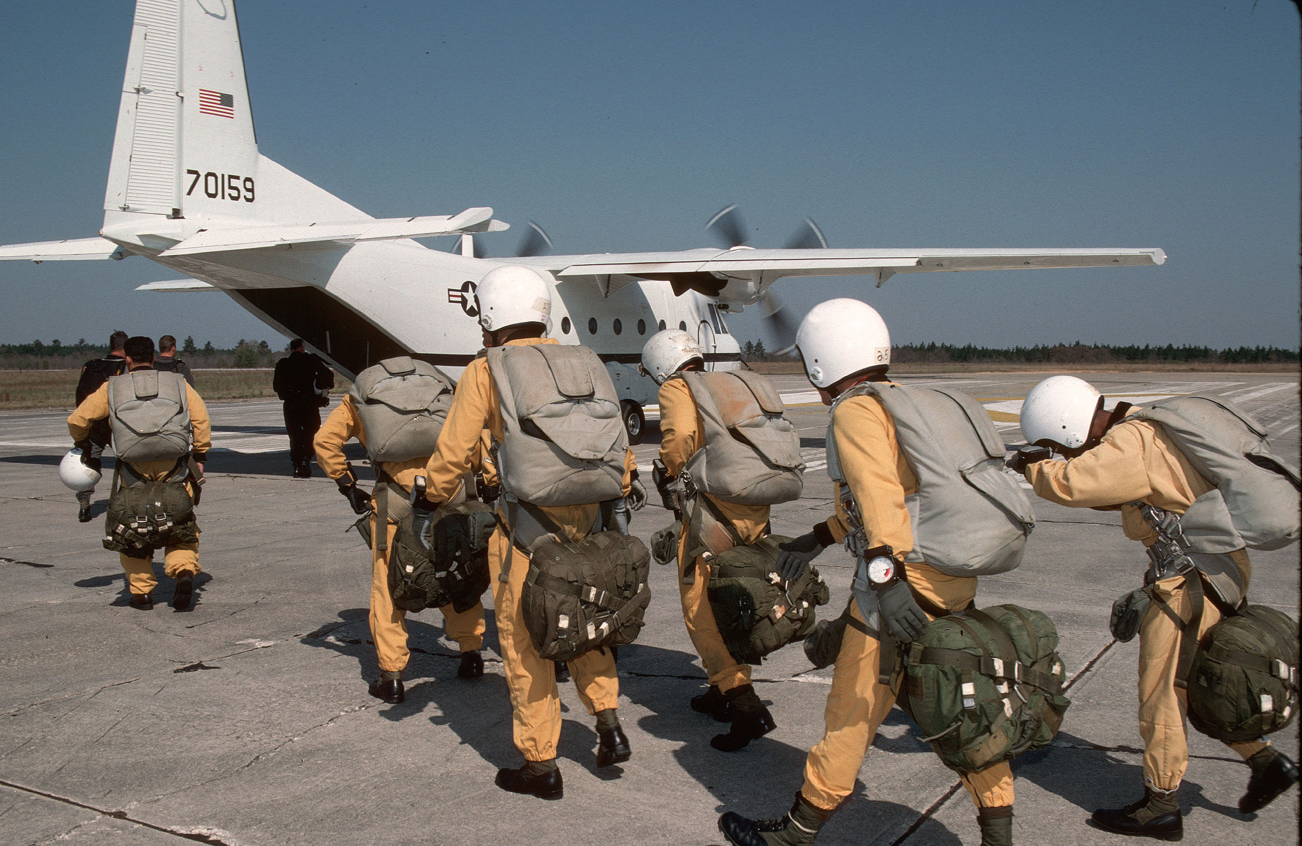 Members Of Delta Force Special Operations Preparing To Conduct HALO HIgh Altitude Low Opening