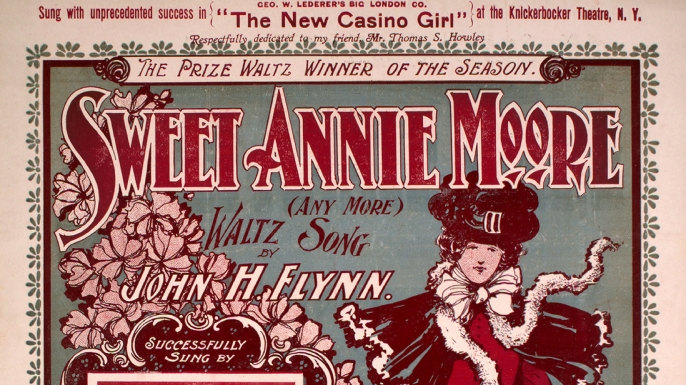 """Sweet Annie Moore"" sheet music. (Credit: Sheridan Libraries/Levy/Gado/Getty Images)"