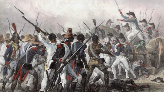 Battle during the Haitian Revolution. (Credit: Public Domain)