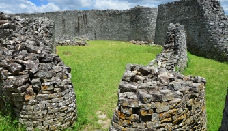 The great enclosure courtyard, Great Zimbabwe. (Credit: Bill Raften/Getty Images)