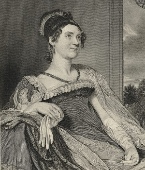 Illustration of Louisa Catherine Adams. (Credit: Bettman/Getty Images)
