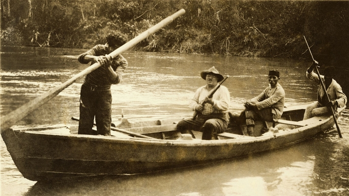Theodore Roosevelt during the expedition.