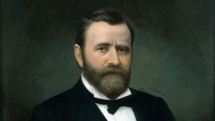 Presidential portrait of Ulysses S. Grant. (