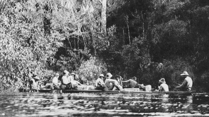 The Roosevelt-Rondon expedition on the river.