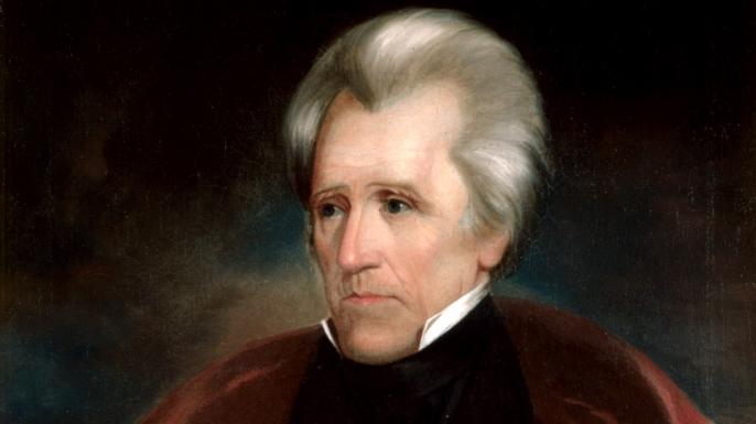 Andrew Jackson's White House portrait.