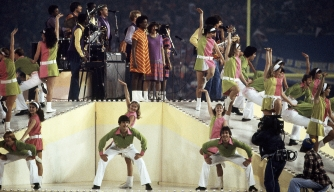 "The Super Bowl XVI halftime show featuring ""Up With People"" on January 24, 1982."