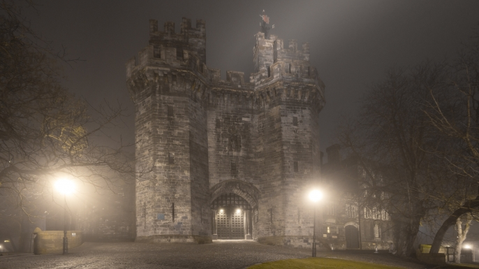 Lancaster Castle, where all but two accused witches were put on trials. (Credit: Dave Moorhouse/Getty Images)
