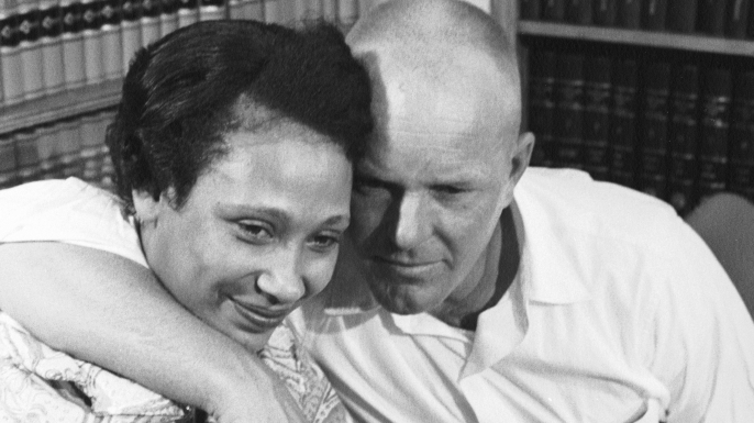 Married couple Mildred and Richard Loving at a press conference the day after the Supreme Court ruling. (Credit: Francis Miller/The LIFE Picture Collection/Getty Images)