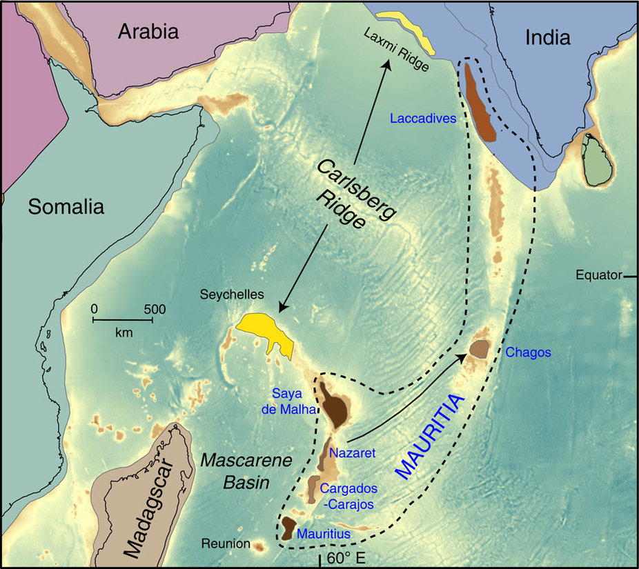 Scientists Say Lost Ancient Continent Lies Beneath Island In - Indian ocean seychelles map
