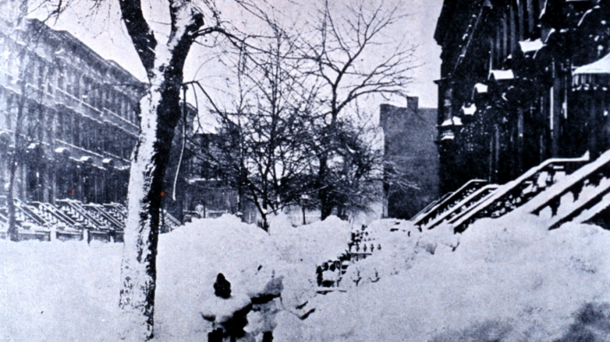 Brooklyn blizzard 1888. (Credit: Public Domain)