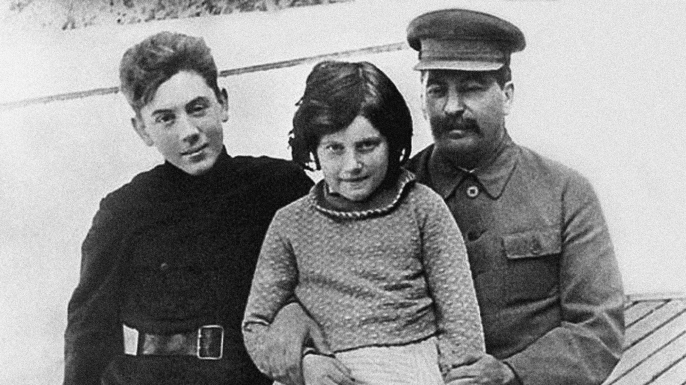 Joseph Stalin with daughter Svetlana and son Vasily. (Credit: Fine Art Images/Heritage Images/Getty Images)
