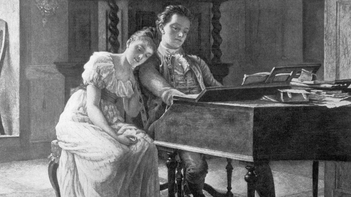 Fanny and Felix Mendelssohn.