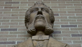 Bust of Bell. (Credit: James Leynse/Corbis via Getty Images)