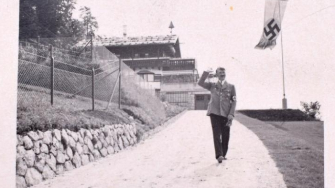Hitler walking the Berghof grounds. (Credit: C&T Auctions)