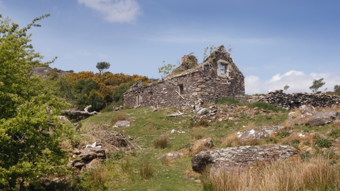 An abandoned Irish cottage, probably due to the famine. (Credit: John Gollop/iStockphoto.com)