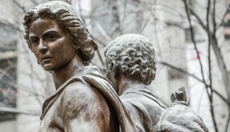 Fragment of The Irish Famine Memorial in Boston. (Credit: mtraveler/iStockphoto.com)