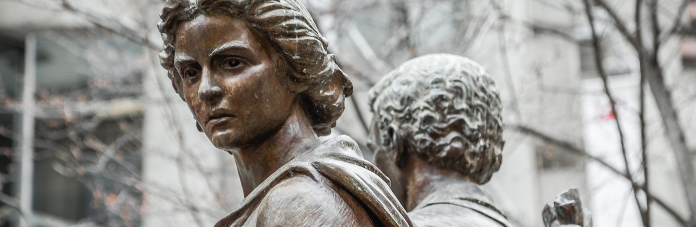 Fragment of The Irish Famine Memorial in Boston. (Credit: mtraveler/iStockphoto.com)