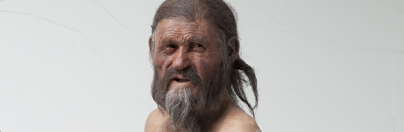 The Iceman's reconstruction by Alfons & Adrie Kennis. (Credit: South Tyrol Museum of Archaeology/Ochsenreiter)
