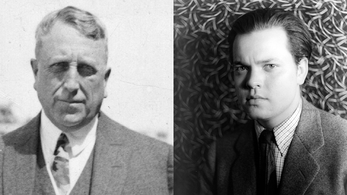 William Randolph Hearst and Orson Welles (Credit: Hulton Archives/Getty Images)