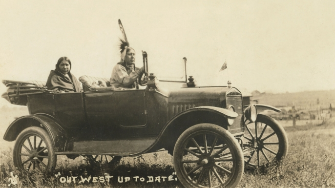 Osage in automobile. (Credit: David Grann)