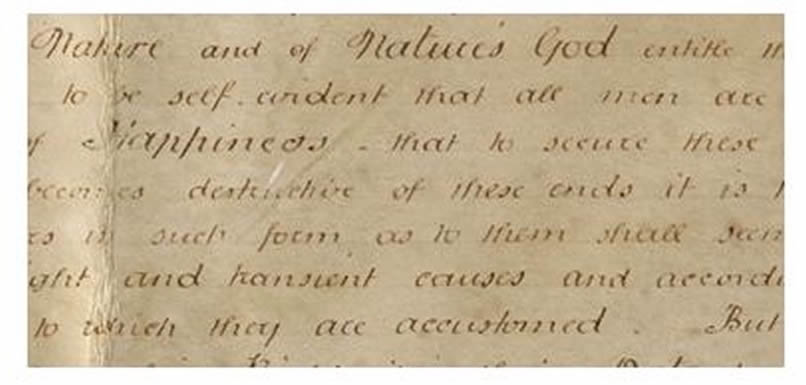 rare version of declaration of independence found in a british