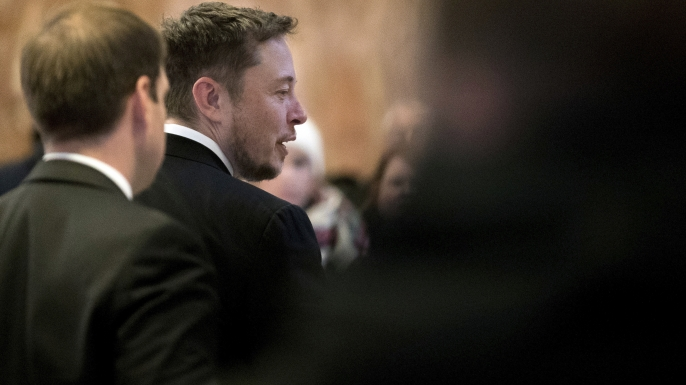 Tesla CEO Elon Musk in January 2017. (Credit: AP Photo/Andrew Harnik)