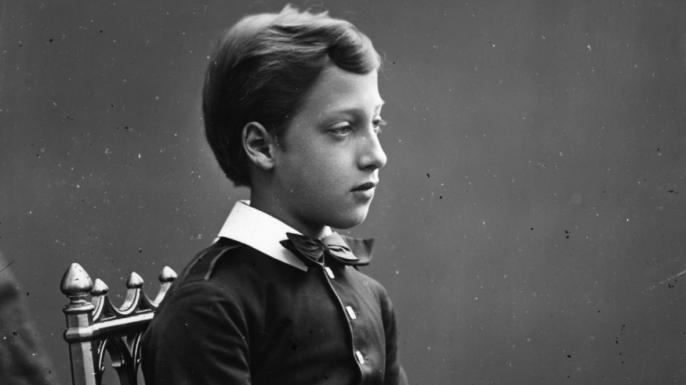 Prince Albert Victor, c. 1870.