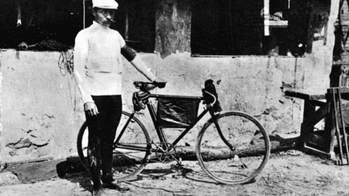French racing cyclist Maurice Garin, winner of the first Tour de France in 1903. (Credit: Roger Viollet/Getty Images)