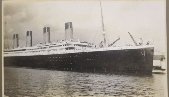 A rare photo of RMS Titanic due to be auctioned April 22. (