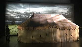 The tent on display