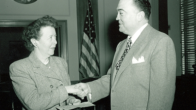 Helen Gandy and J. Edgar Hoover.