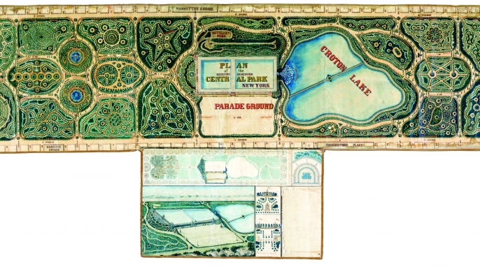 John Rink's plan for Central Park.