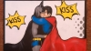 "Batman and Robin kiss in a mural near Canal Street, Manchester's popular gay ""village."" (Credit:  lowefoto / Alamy Stock Photo)"
