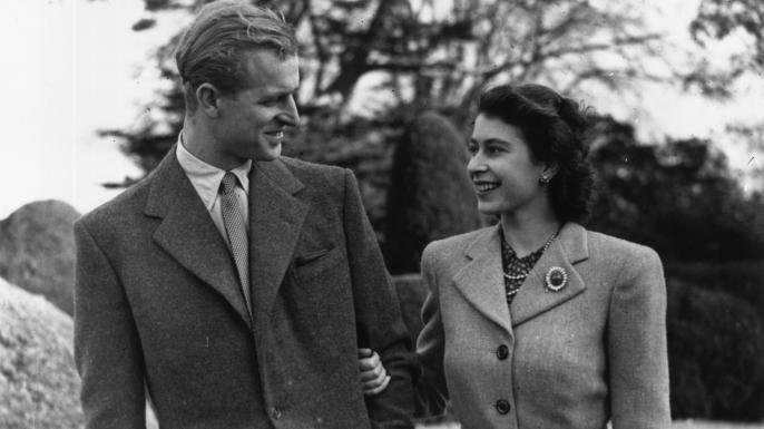 Elizabeth and Philip on their honeymoon.
