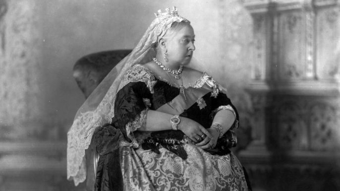 An official portrait of Queen Victoria on the occasion of her Diamond Jubilee, after a reign of sixty years.  (Credit: W.&D. Downey/Getty Images)