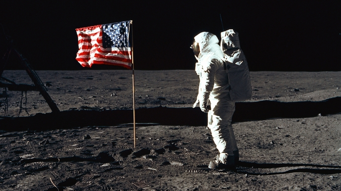 "376713 03: (FILE PHOTO) Astronaut Edwin ""Buzz"" Aldrin during an Apollo 11 EVA on the surface of the Moon (Credit: NASA/Newsmakers)"