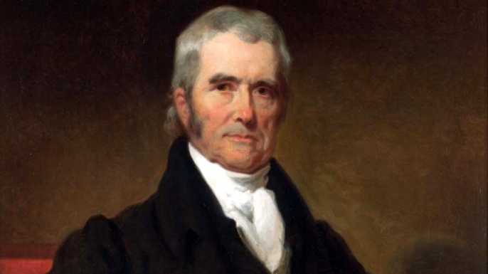 Supreme Court Chief Justice John Marshall, who presided over Burr's trial.