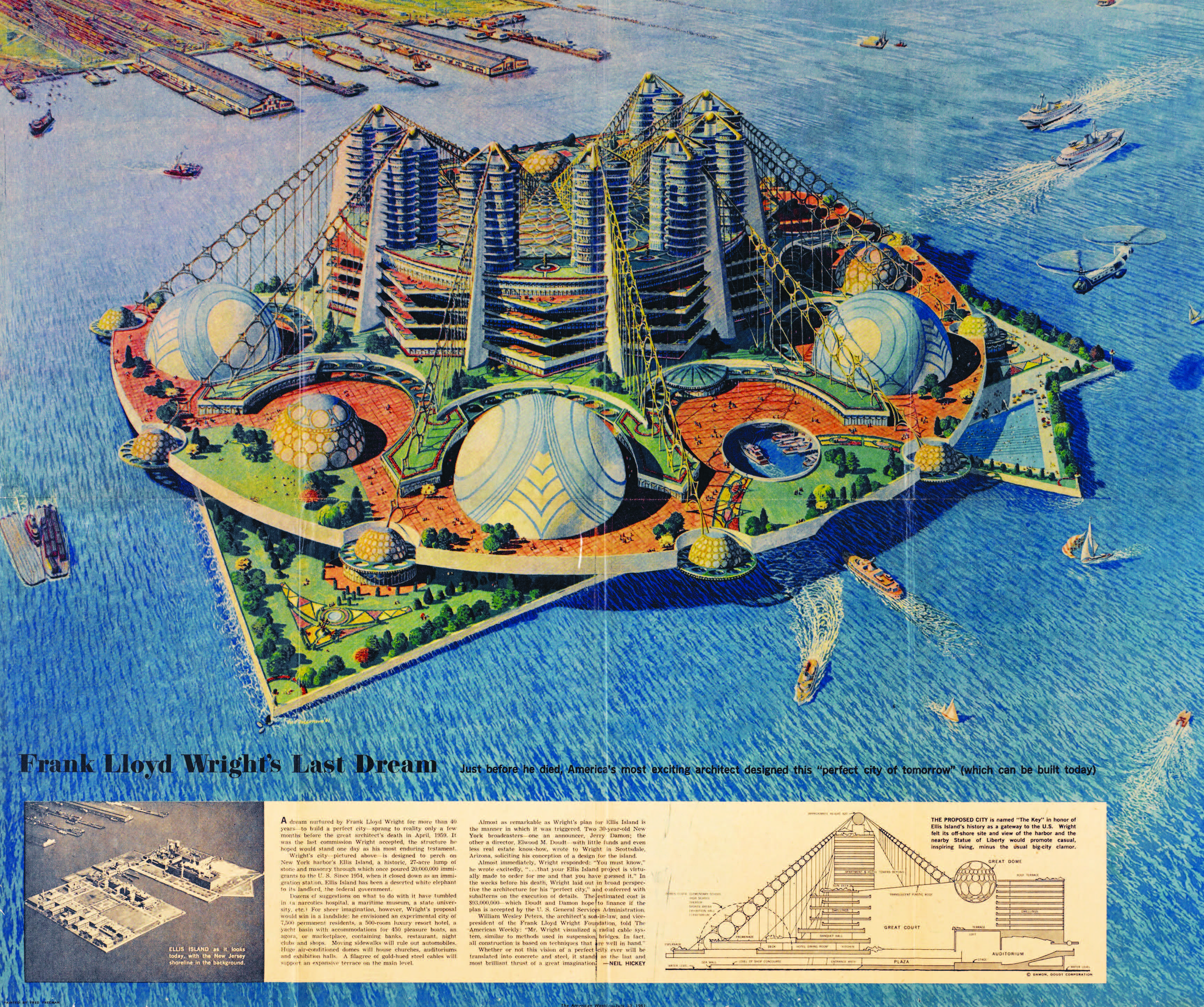Never Built New York The Big Apple As It Might Have Been - New york map ellis island