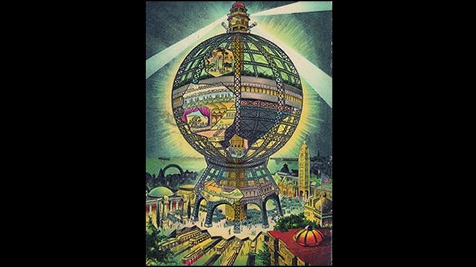 Samuel Friede's Coney Island Globe (Courtesy Metropolis Books)