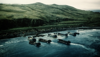 U.S. landing operations at Kiska.