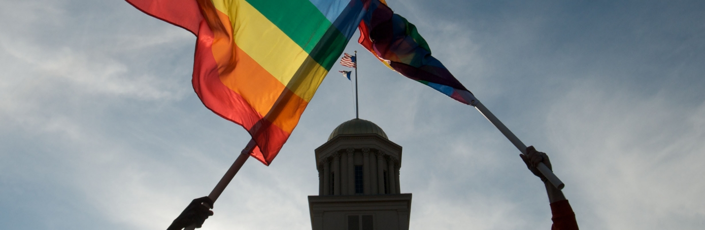Activists of the LGBT community react to the unanimous decision by the Iowa Supreme Court recognizing same sex marriage as a civil right. (David Greedy/Getty Images)
