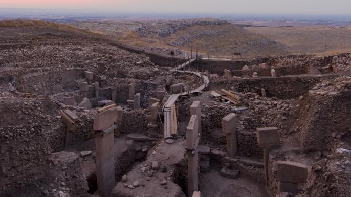 "Göbekli Tepe ""Southeast-Hollow. (Credit: German Archaeological Institute DAI)"