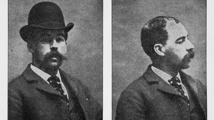 American pharmacist and convicted serial killer Herman Webster Mudgett, better known by his alias H.H. Holmes. (Credit: Chicago History Museum/Getty Images)