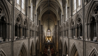 The view from the Triforium of the Great West Door at Westminster Abbey. (Credit: Dan Kitwood/Getty Images)