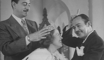 Crowning the Queen on the program Queen for a Day which was aired that day over radio and TV.  (Credit: Jack Birns/The LIFE Images Collection/Getty Images)