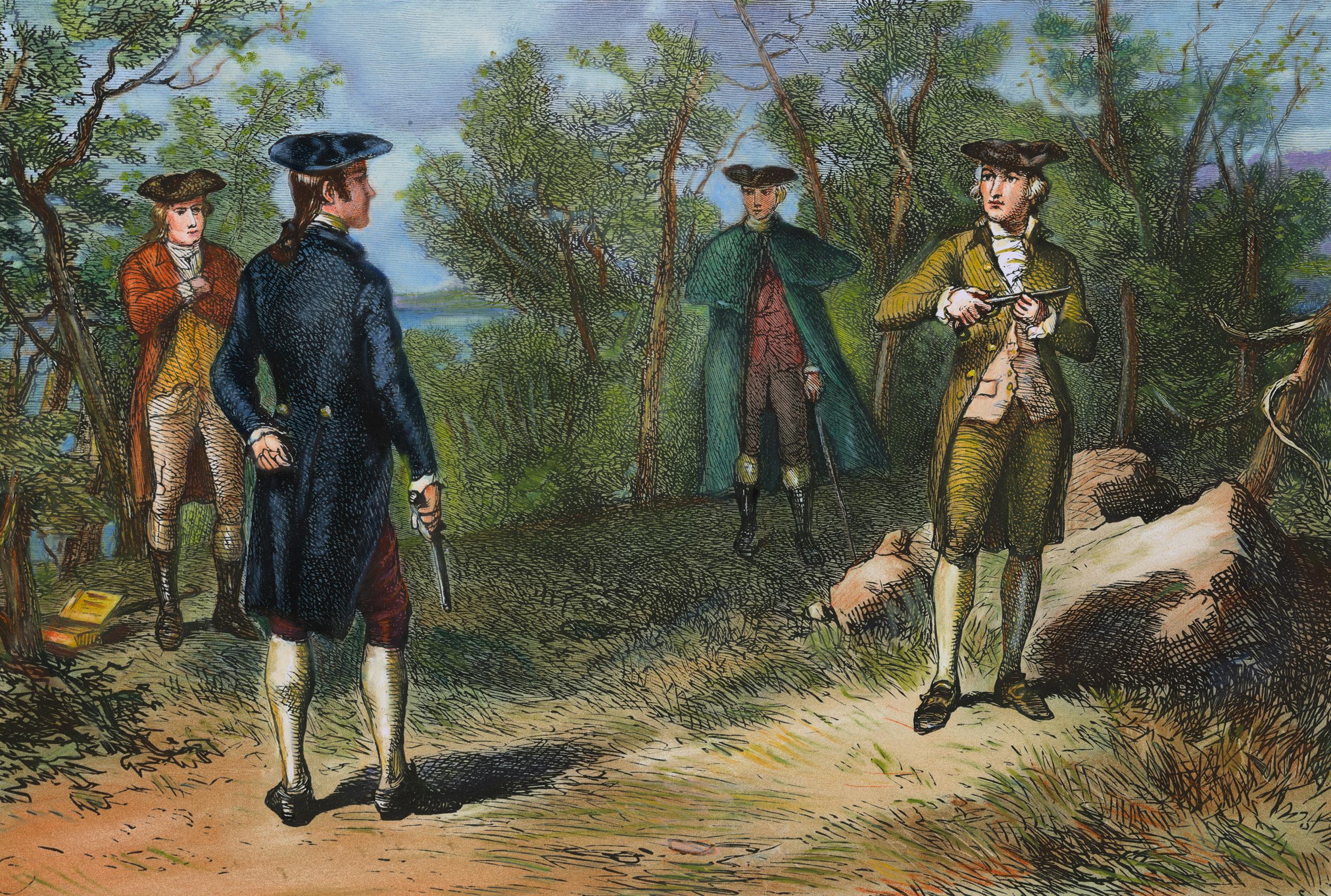 alexander hamilton and aaron burr duel